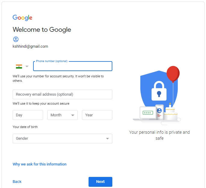 New gmail account kaise banaye hindi (Gmail ID)