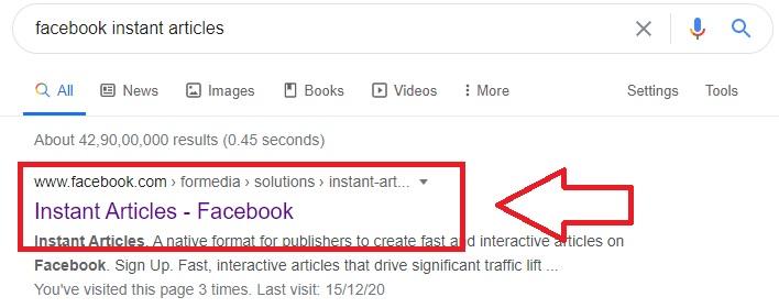 facebook Instant Article setup