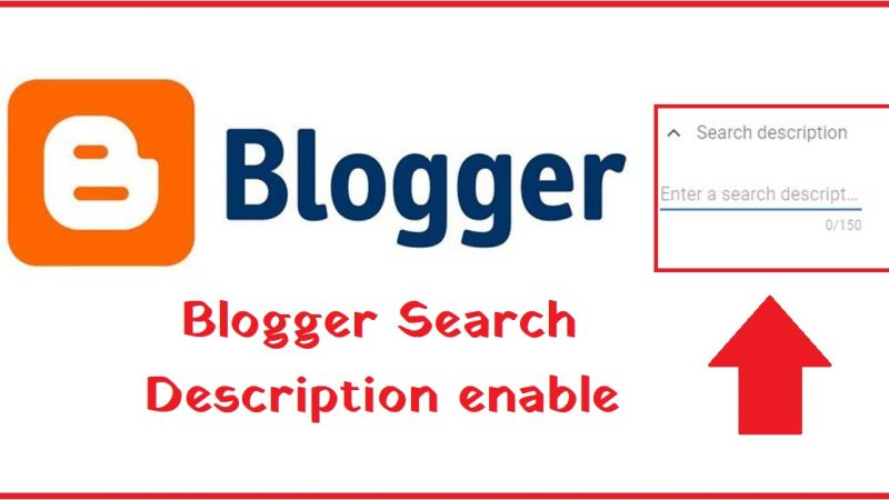 Blogger Search Description enable hindi 2021